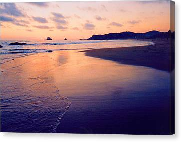 Awesome Zipolite Sunset 2 Canvas Print
