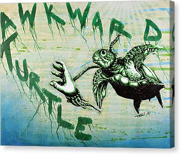 Awkward Turtle Canvas Print