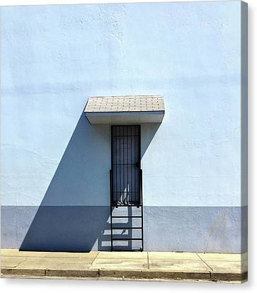 Awning Shadow Canvas Print by Julie Gebhardt