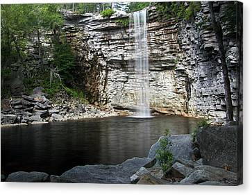 Awosting Falls In July II Canvas Print by Jeff Severson
