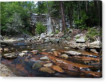 Awosting Falls In July Iv Canvas Print by Jeff Severson