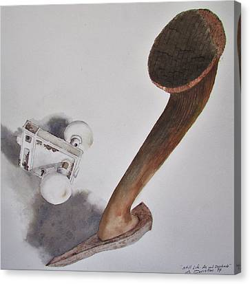 Axe And Doorknob Canvas Print