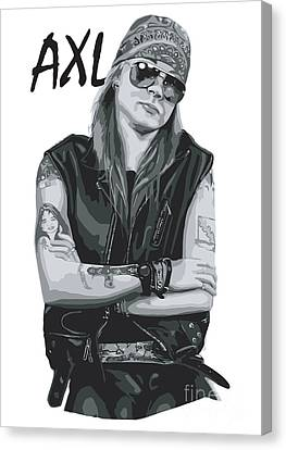 Black Artist Canvas Print - Axl Rose by Caio Caldas