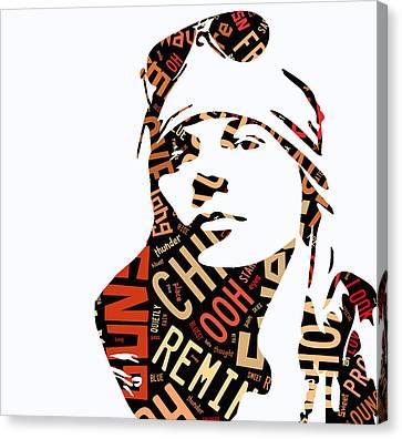 Axl Rose Sweet Child O Mine Canvas Print