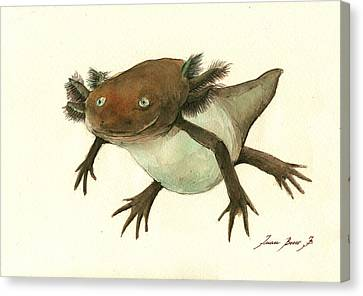 Axolotl Canvas Print by Juan Bosco