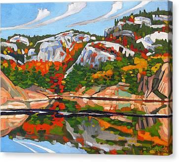 A.y. Jackson Lake Canvas Print by Phil Chadwick