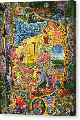 Ayahuasca Visions Canvas Print - Ayahuasca Chayana by Pablo Amaringo