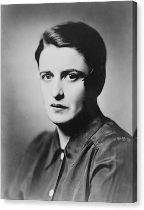 Ayn Rand 1905-1982 Russian Born Canvas Print by Everett