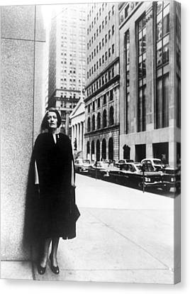 Ayn Rand Author Of Capitalism The Canvas Print
