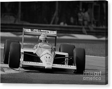 Ayrton Senna. 1988 Italian Grand Prix Canvas Print