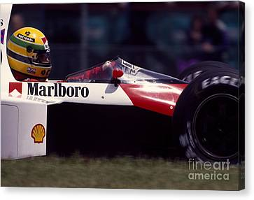 Canadian Grand Prix Canvas Print - Ayrton Senna. 1989 Canadian Grand Prix by Oleg Konin