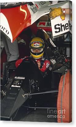 Ayrton Senna. 1990 Italian Grand Prix Canvas Print