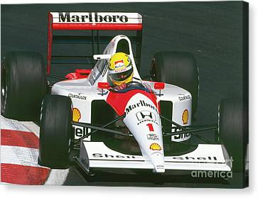 Canadian Grand Prix Canvas Print - Ayrton Senna. 1991 Canadian Grand Prix by Oleg Konin