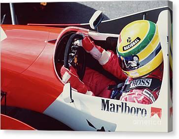 Ayrton Senna. 1993 Spanish Grand Prix Canvas Print