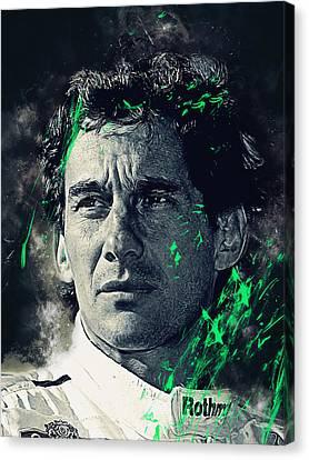 Ayrton Senna Canvas Print by Afterdarkness