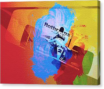 Ayrton Senna Canvas Print by Naxart Studio
