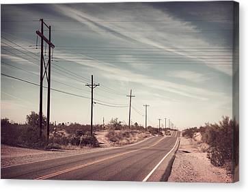 Canvas Print featuring the photograph Az Highway by Joseph Westrupp