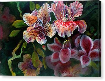 Canvas Print featuring the painting Azalea by Gertrude Palmer