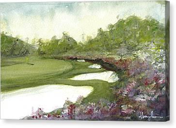 Amen Corner Canvas Print - Azaleas by Dave Baysden