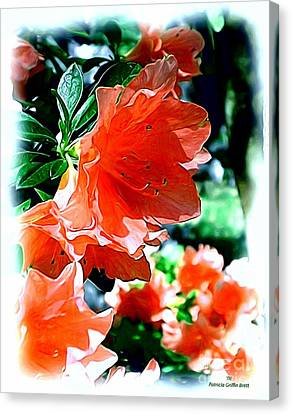 Canvas Print featuring the painting Azaleas In The Spring by Patricia Griffin Brett