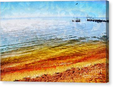Azov Sea Canvas Print by Magomed Magomedagaev
