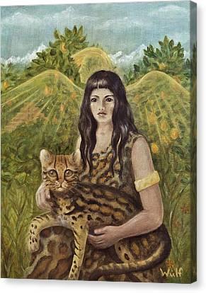 Aztec Angel Canvas Print