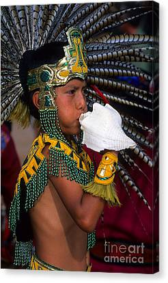 Pow Wow Aztec Tradition Canvas Print by Bob Christopher
