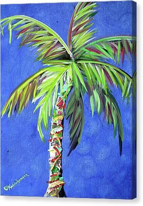 Azul Palm Canvas Print