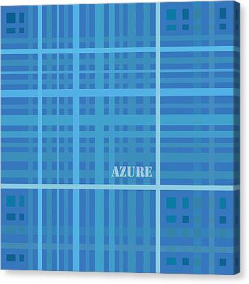 Azure Blue Abstract Canvas Print by Frank Tschakert