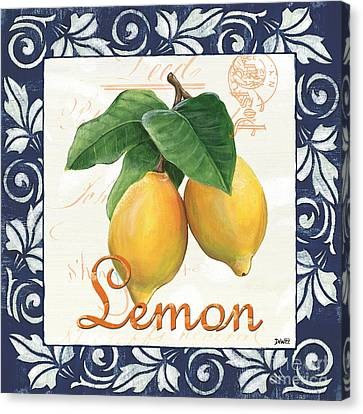 Azure Lemon 1 Canvas Print by Debbie DeWitt