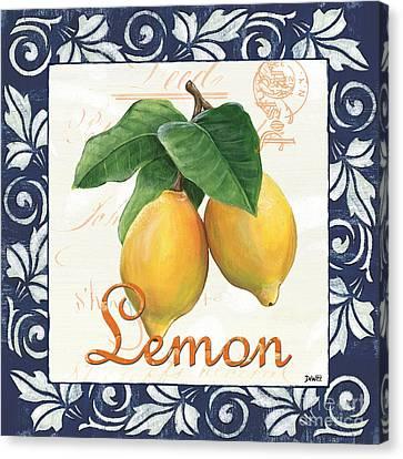 Azure Lemon 1 Canvas Print by Debbie DeWitt