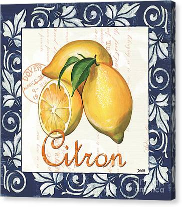 Azure Lemon 2 Canvas Print by Debbie DeWitt