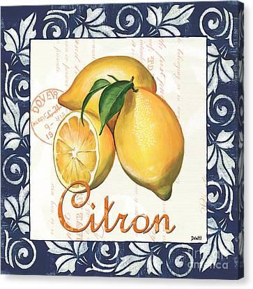Azure Lemon 2 Canvas Print by Debbie DeWitt