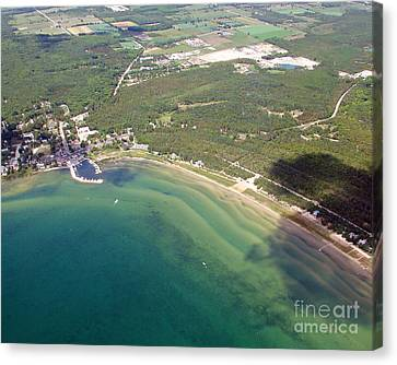 Canvas Print featuring the photograph B-012 Baileys Harbor Wisconsin Ridges by Bill Lang