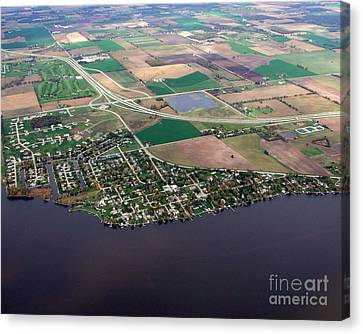 Canvas Print featuring the photograph B-017 Butte Des Morts Town Wisconsin by Bill Lang