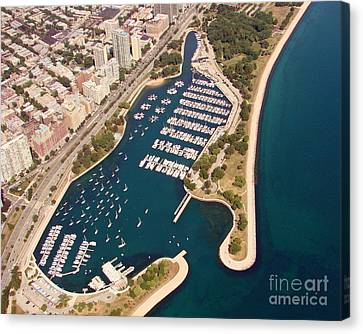 Canvas Print featuring the photograph B-020 Belmont Harbor Chicago Illinois by Bill Lang