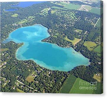 Canvas Print featuring the photograph B-021 Beaver Lake Waukesha County Wisconsin by Bill Lang