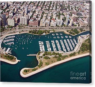 Canvas Print featuring the photograph B-023 Belmont Harbor 2 Chicago Illinois by Bill Lang