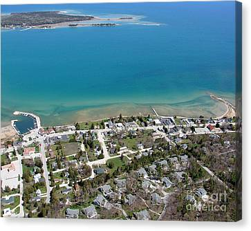 Canvas Print featuring the photograph B-024 Baileys Harbor Town Wisconsin by Bill Lang