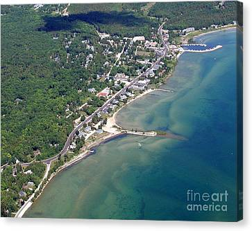 Canvas Print featuring the photograph B-025 Baileys Harbor South Shoreline Wisconsin by Bill Lang