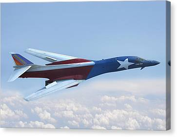 Jet Star Canvas Print - B-1 Southwest Livery by Peter Chilelli