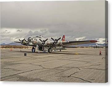 B-17 Flying Fortress Canvas Print by Allen Sheffield