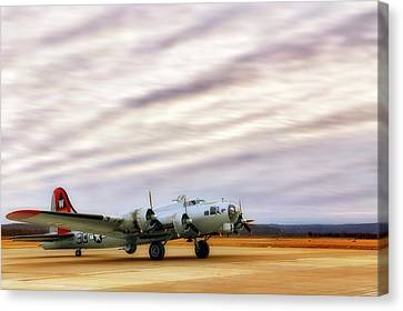 Canvas Print featuring the photograph B-17 Aluminum Overcast - Bomber - Cantrell Field by Jason Politte