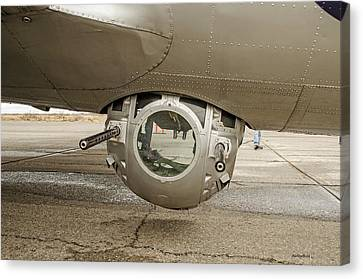 B-17 Ball Turret Canvas Print by Allen Sheffield
