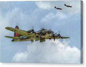 B-17 Flying Fortress Bomber  Canvas Print