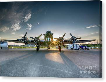 B-17 Flying Fortress Canvas Print by James Brown