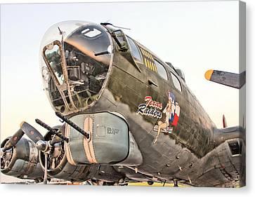 B-17 Texas Raiders Canvas Print by Michael Daniels