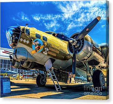 B-17g Flying Fortress Canvas Print by Nick Zelinsky