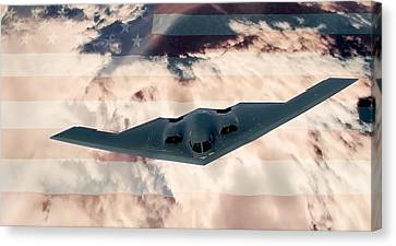 B-2  Respect Canvas Print by Kevin  Sherf