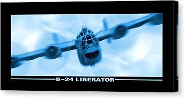 B-24 Liberator Canvas Print by Mike McGlothlen